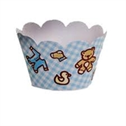 WRAPPERS -CUPCAKE -BABY BOY (R:6201) - 12UN