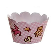 WRAPPERS -CUPCAKE -BABY GIRL (R:6202) - 12UN